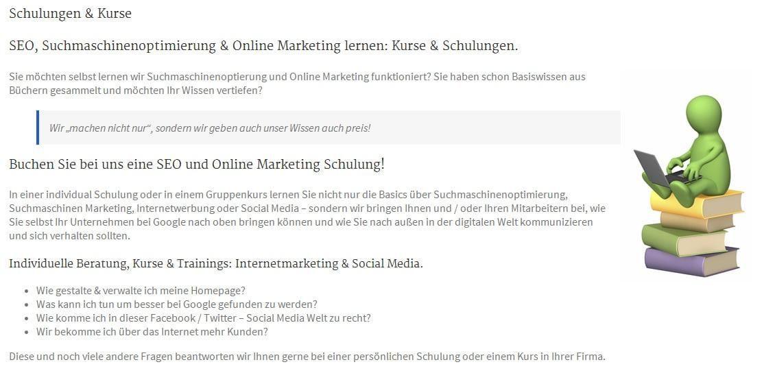 Gefunden.net Werbeagentur & Internetagentur: SEO und Google und Internet Marketing Kurse, Seminare und Schulungen