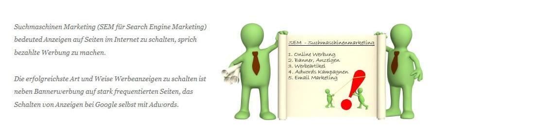 Google-Adwords, SEM und Suchmaschinen Werbung